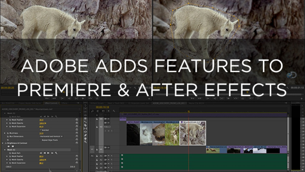 Adobe Adds More Features to Premiere Pro & After Effects