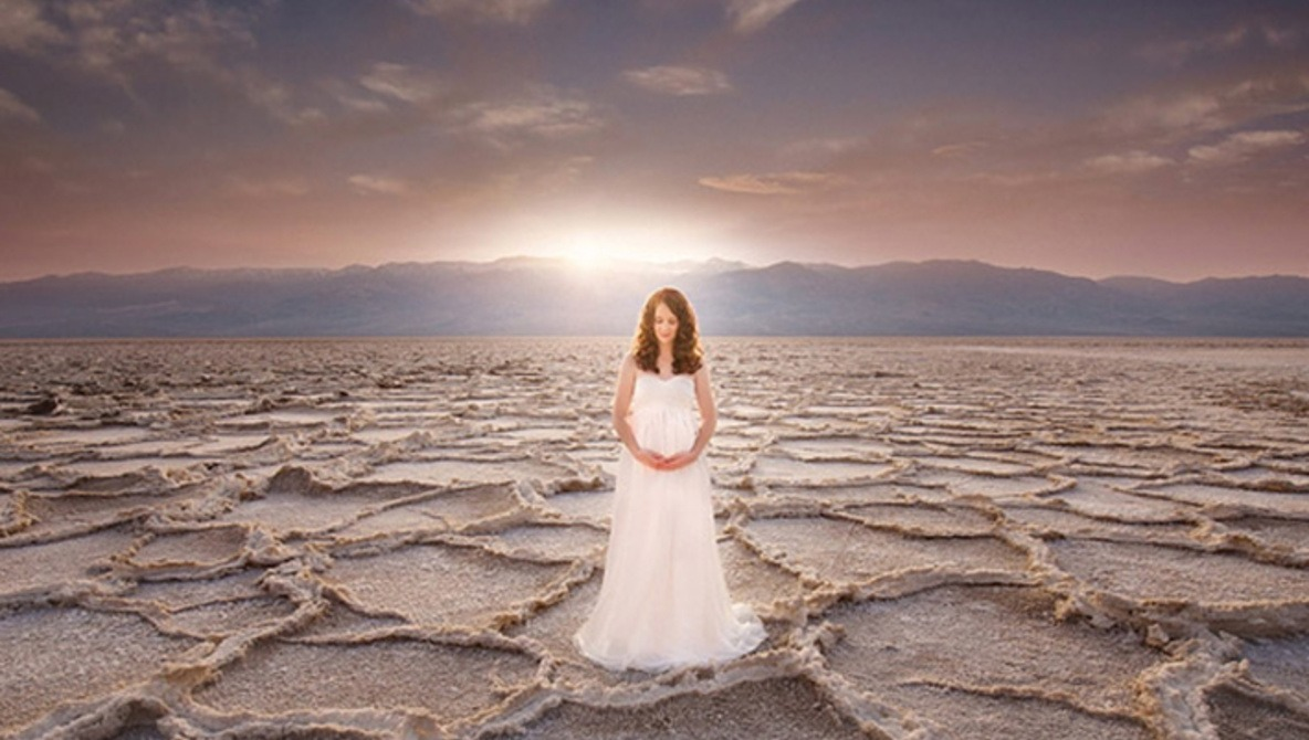 Pregnant in Death Valley