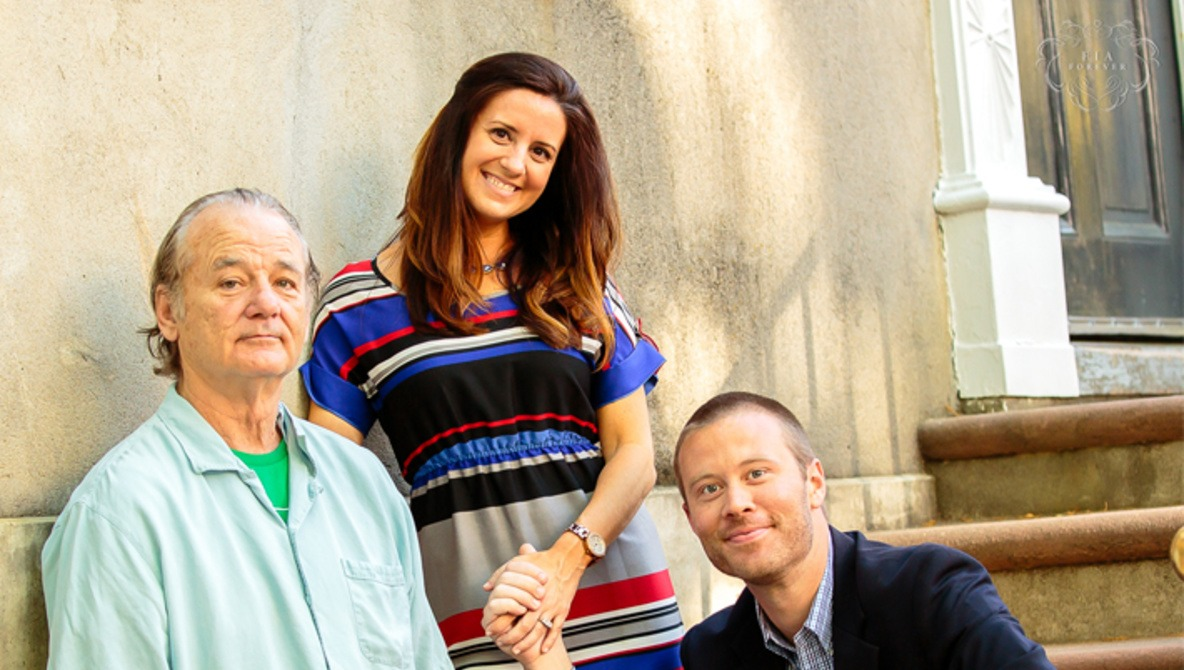 Bill Murray Hilariously Crashes a Charleston Engagement Session