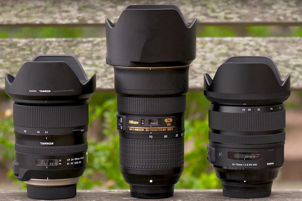 Nikon 24-70mm 2.8 VR vs Sigma Art vs Tamron G2