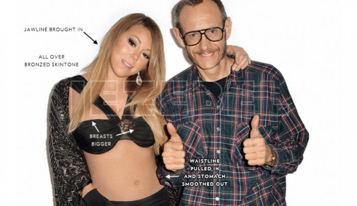 Terry Richardson S Before And After Photoshop Pictures Of