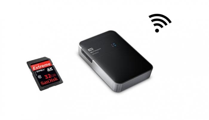 how to add wd passport wireless network location