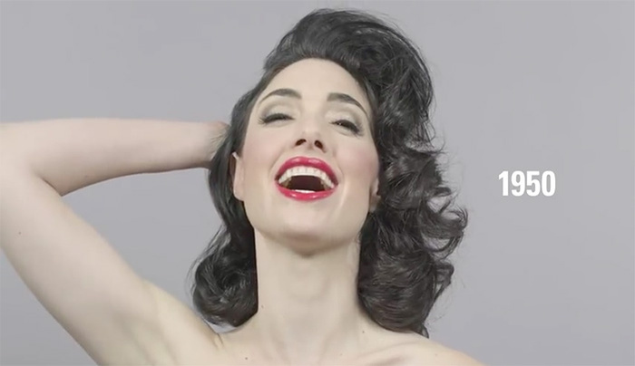 Hairlapse: 100 Years of Beauty in 1 Minute