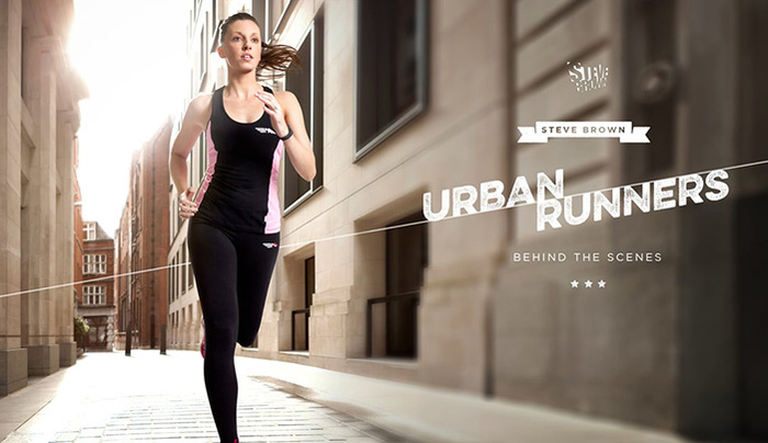 Behind The Scenes Photographing Runners in a Studio for Photoshopping onto Urban Backplates