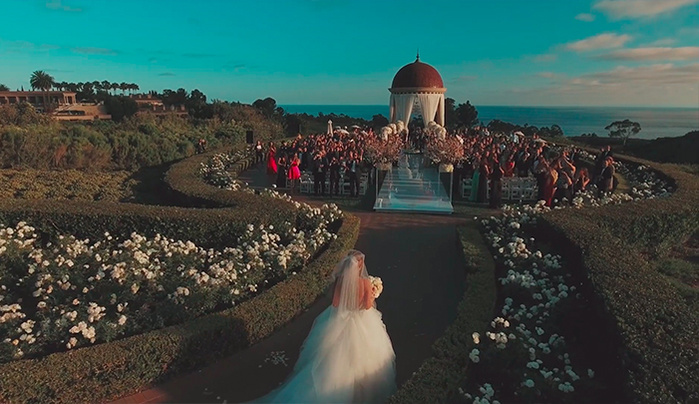 Wedding photographer takes gorgeous video using drone for Best drone for wedding video