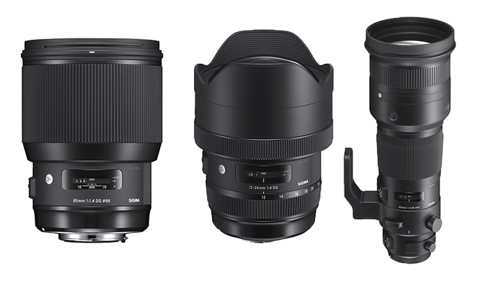 Sigma Announces the 85mm f/1.4 Art, 12-24mm f/4 Art, and 500mm f/4 DG OS Sports Lenses
