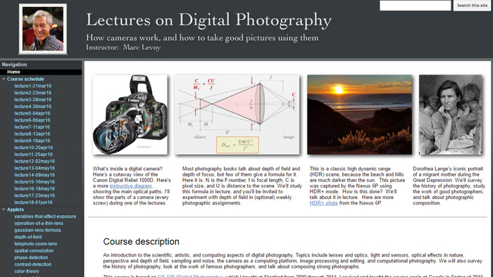 Stanford Professor Releases Free University-Level Digital Photography Course