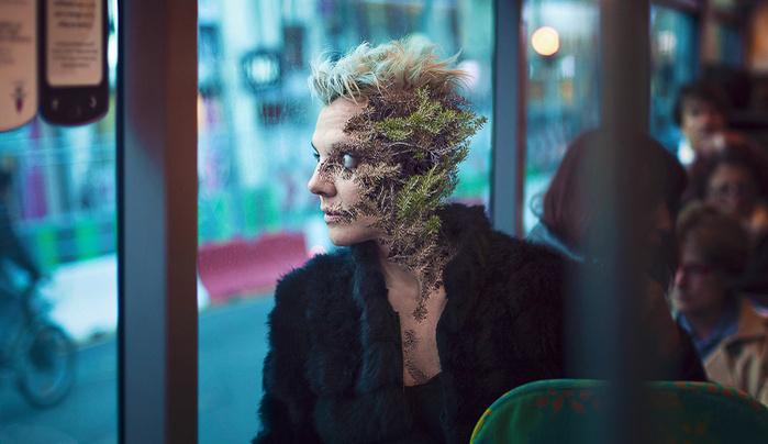 Photographer Creates Eye-Catching Organic Portraits Using Plant Life