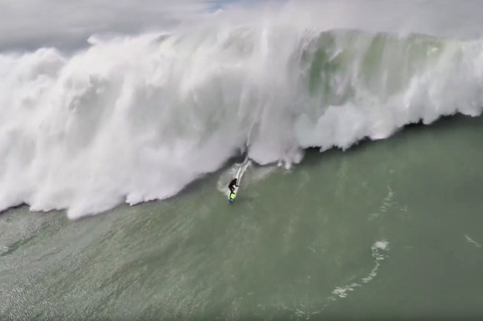 Drone Captures Amazing Footage of Big Wave Surfer Ride and Rescue