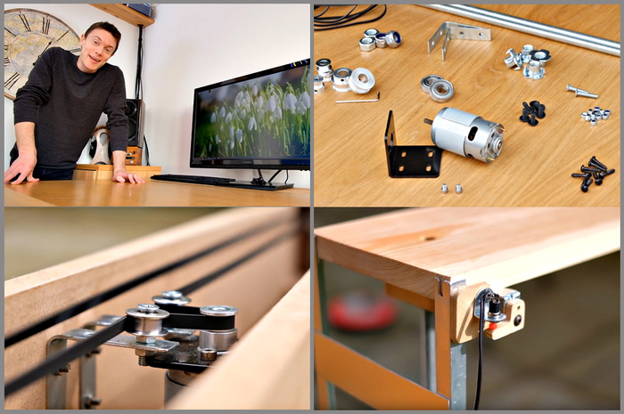 diy build an affordable motorized monitor lift for your