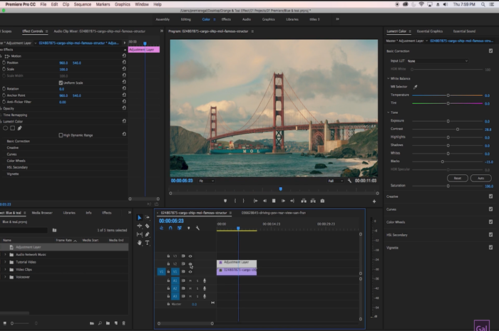 How to easily create a cinematic color grade in premiere pro fstoppers ccuart Choice Image