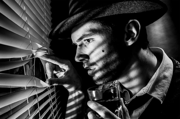 Shooting Film Noir Portraits Inside The Studio Space