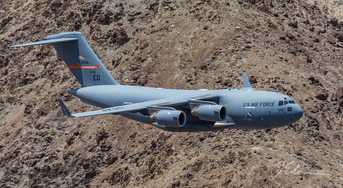 Surprising Images of a C-17 Flying Inside the Star Wars Canyon