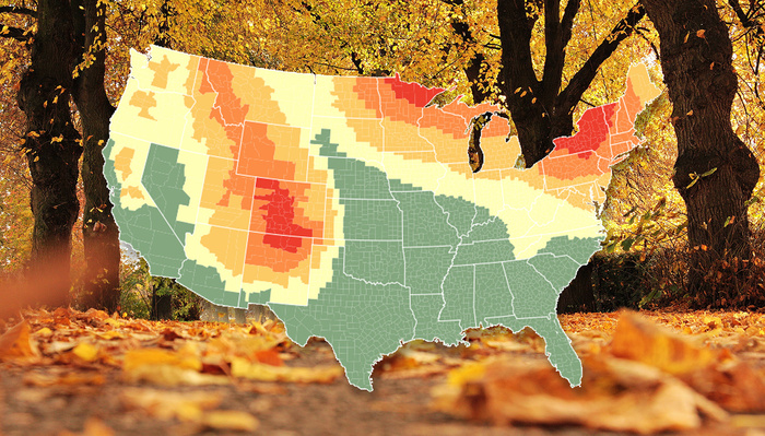 2018 U.S. Fall Color Prediction Map for Landscape Photographers