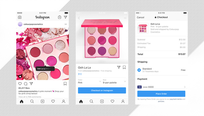 Checkout on Instagram Rolls Out, Facebook Logs Payment Information