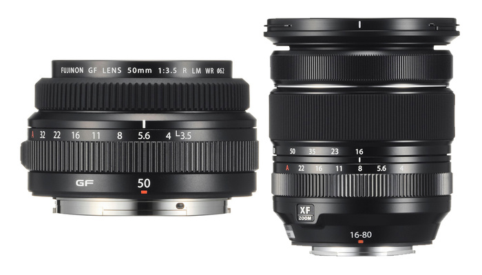 Fujifilm Announces Two New Lenses: The XF 16-80mm f/4 R OIS WR and GF 50mm f/3.5 R LM WR