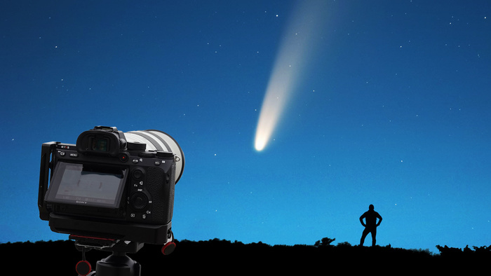 Planning, Photographing, and Editing a Telephoto Lens Comet Neowise Photo