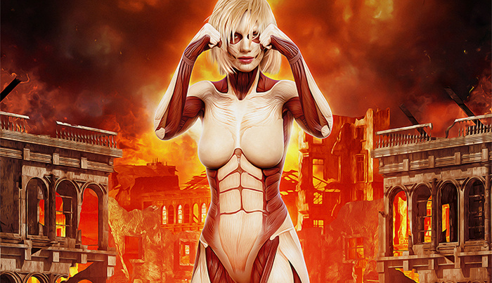 Attack on Titan: Hyper-Real Photoshop Homage