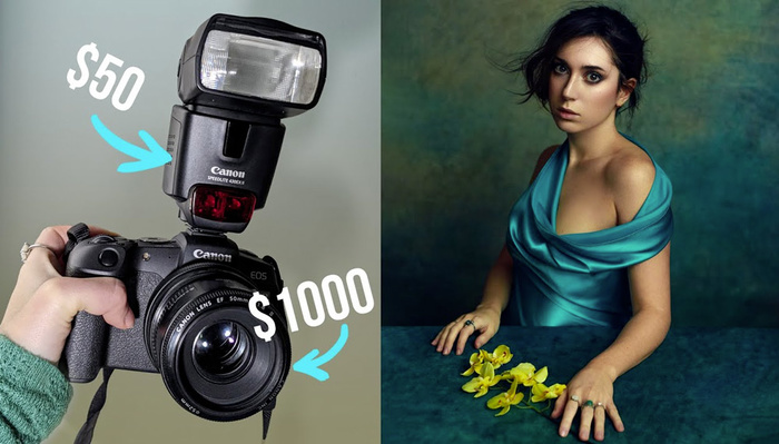 How To Create Stunning Portraits Using a Cheap on-Camera Flash
