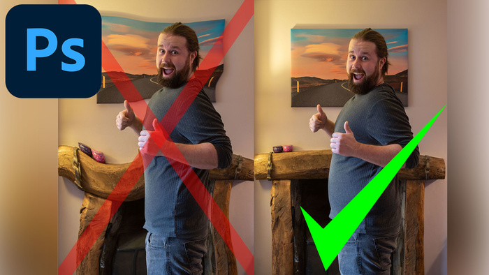 Avoid Bending the Scene When Liquifying Portraits in Photoshop