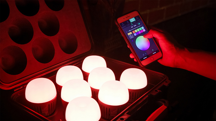 Aputure Announces Eight Light RGB Bulb Kit Complete With Charging Case