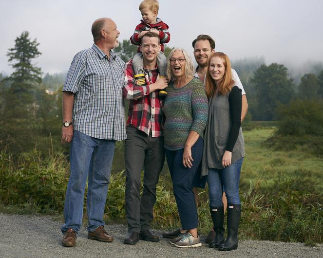Self-family portrait
