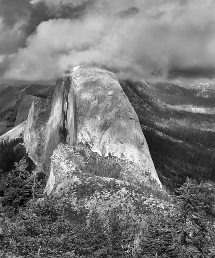 Yosemite's Half-Dome in the Clouds...from Glacier Point