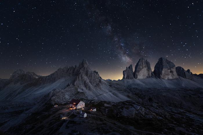 Three peaks and a million stars