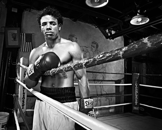environmental portrait of pro boxer photo by brian kaldorf