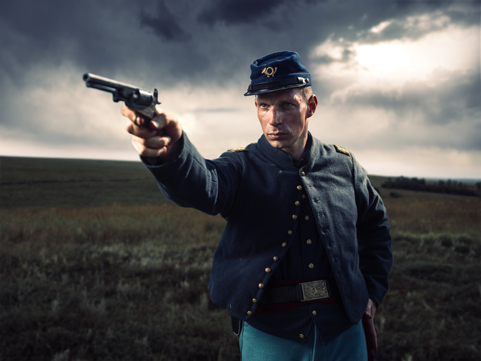 Civil War Reenactor Union Corporal - Justin Lister on ...