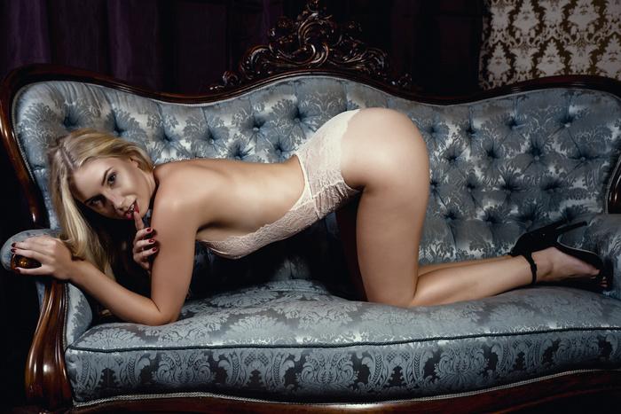 Women Model Blonde Long Hair Ass Couch Smi Justswallows 1