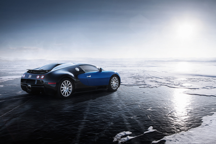 Bugatti Veyron and Baikal Lake