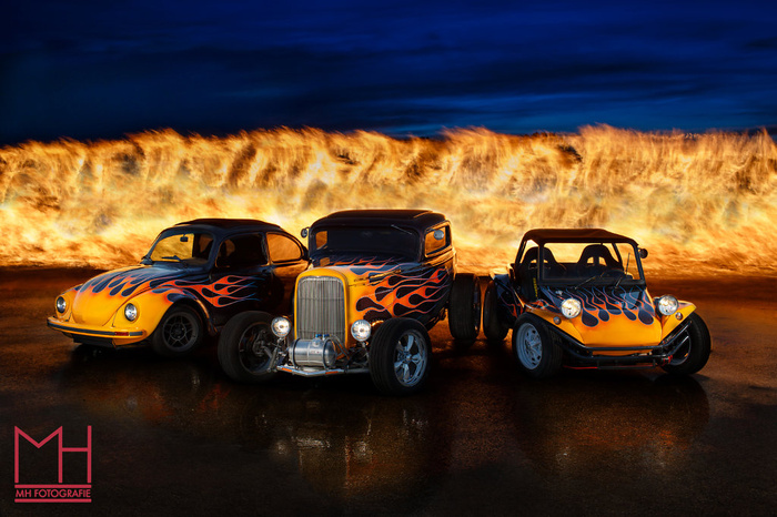 Hot Rods on Fire