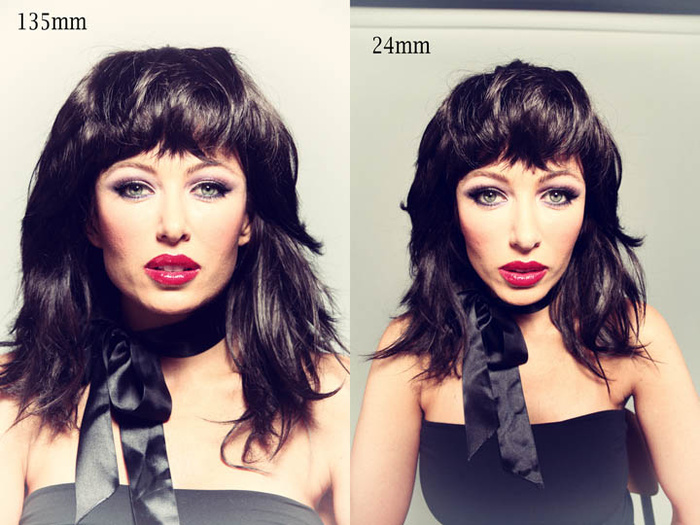 How Lens Focal Length Shapes The Face Fstoppers - How focal lengths can change the shape of your face