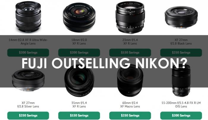 Fuji Lenses Outselling Nikon Glass in Rebate Battle