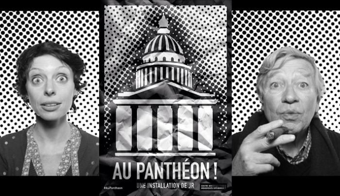 """Au Pantheon"": Project Adorns Construction Around Pantheon With Gigantic Portraits"