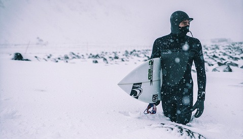 Chris Burkard Battles the Arctic to Capture a Perfect Surfing Shot