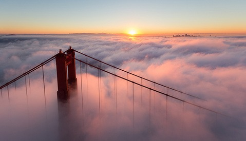 "This Aerial Video of a ""Typical"" San Francisco Morning is Anything But"