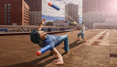 Ingenious Father Uses Son to Create Digital Masterpieces