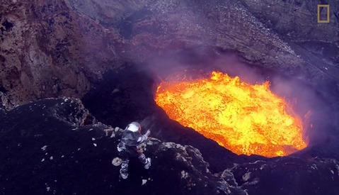 Impossible Shots of an Active Volcano Captured by Drones for National Geographic