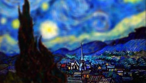 Surprisingly Realistic Tilt-Shift Images of Van Gogh's Most Famous Works