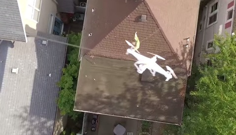 Owner Rescues Stranded Drone With New Drone