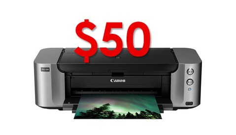 Get The $400 Canon Pro-100 Printer For $50 Right Now