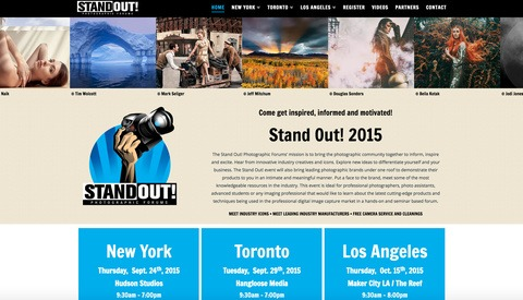 Stand Out Photo Workshops Are Coming - Learn From Industry Leaders