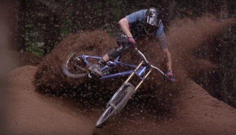 As Dirt Falls From the Sky Like Snow, These Mountain Bikers Get to Experience an UnReal Dirt Blizzard