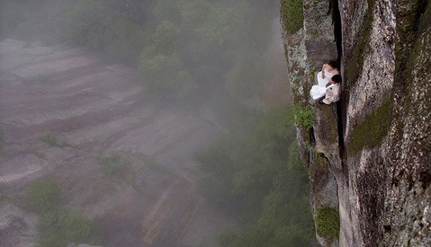 Breathtaking Pictures of Dancers and Couples on the Edge of a Cliff