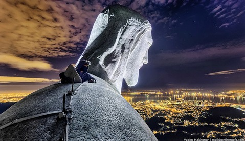 Urbex Photography Taken to the Next Level: On Top of Christ the Redeemer