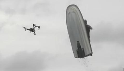 Jet Ski Destroys Drone in Dramatic Fashion