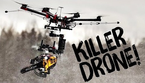 These Guys Mounted a Chainsaw to a Drone, then Filmed its Carnage in Slow-motion