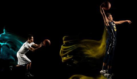 Mixed Light Basketball Portraits by Erik Christian